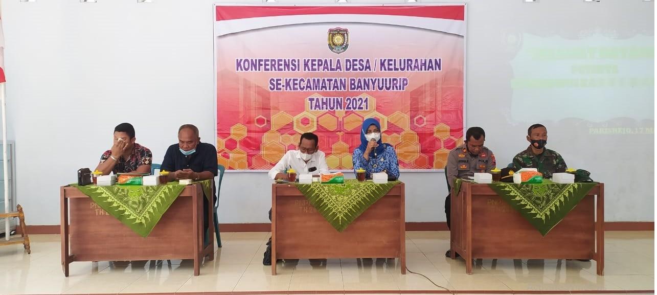 Konferensi Kepala Desa dan Lurah se Kecamatan Banyuurip