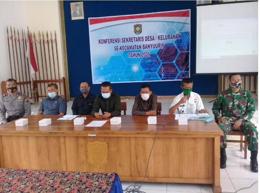 Konferensi Sekretaris Desa/Kelurahan se Kecamatan Banyuurip